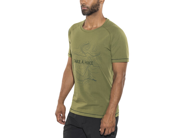 Bergans Take a Hike Tee Men Khaki Green/Seaweed/Dark Steel Blue